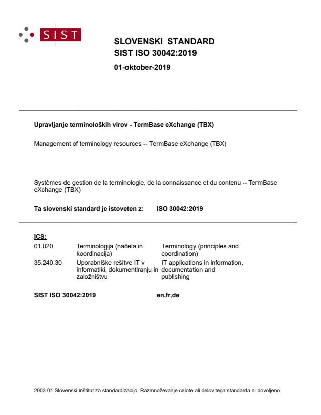 SIST ISO 30042:2019