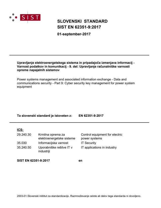 SIST EN 62351-9:2017 - BARVE