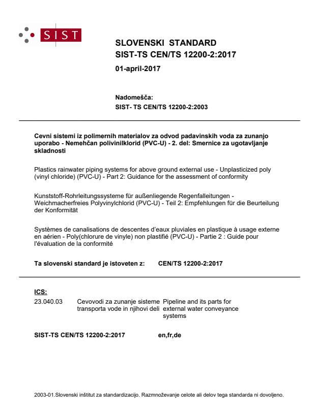 SIST-TS CEN/TS 12200-2:2017