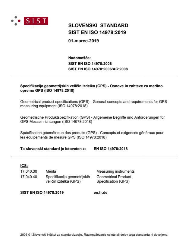SIST EN ISO 14978:2019