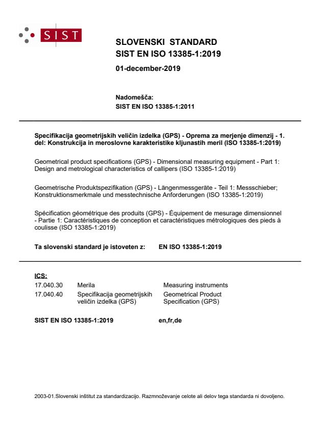 EN ISO 13385-1:2019