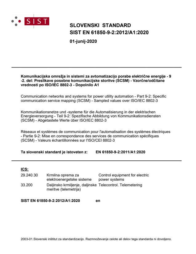 EN 61850-9-2:2012/A1:2020