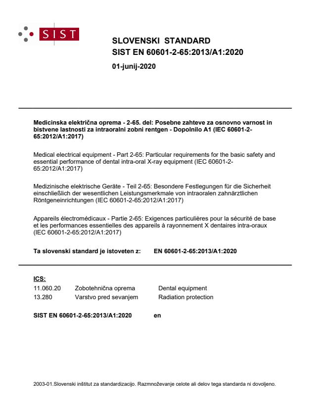 EN 60601-2-65:2013/A1:2020