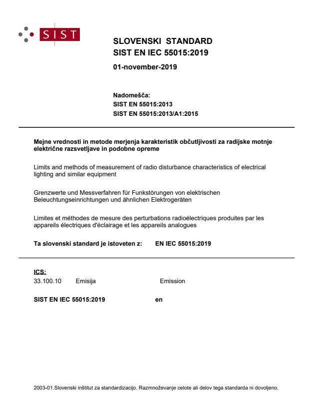 EN IEC 55015:2019 - BARVE na PDF-str 55,62. Vodni pretisk na sredini strani na PDF-str: 45,46
