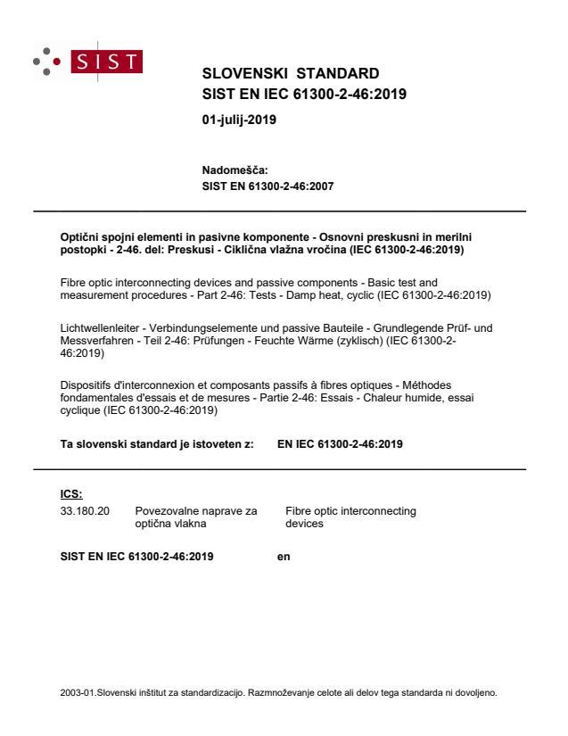 EN IEC 61300-2-46:2019