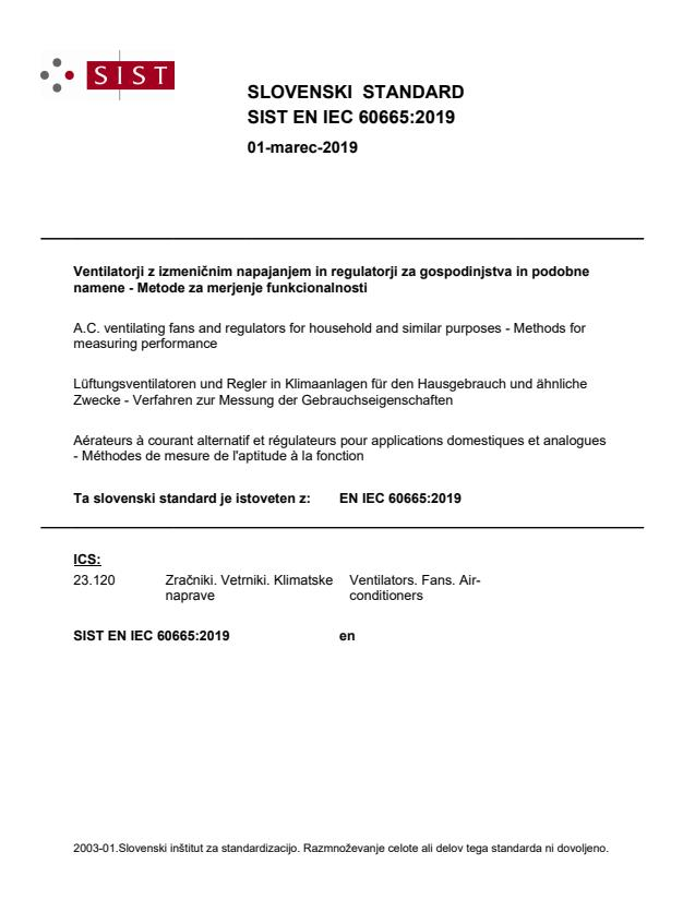 EN IEC 60665:2019