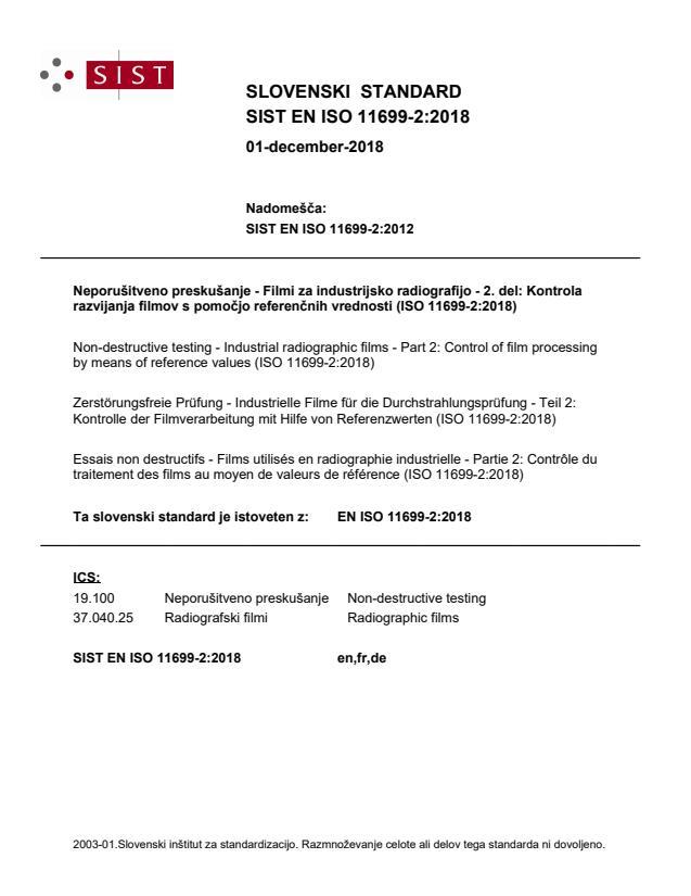 SIST EN ISO 11699-2:2018
