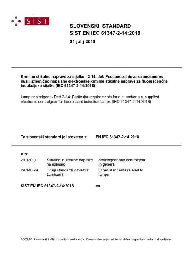 SIST EN IEC 61347-2-14:2018