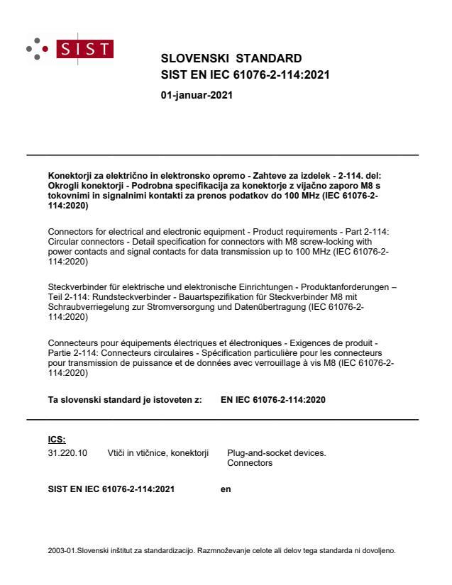 SIST EN IEC 61076-2-114:2021