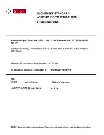 SIST-TP ISO/TR 22100-2:2021
