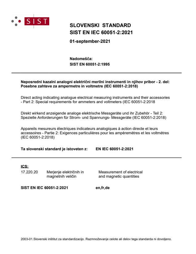 SIST EN IEC 60051-2:2021