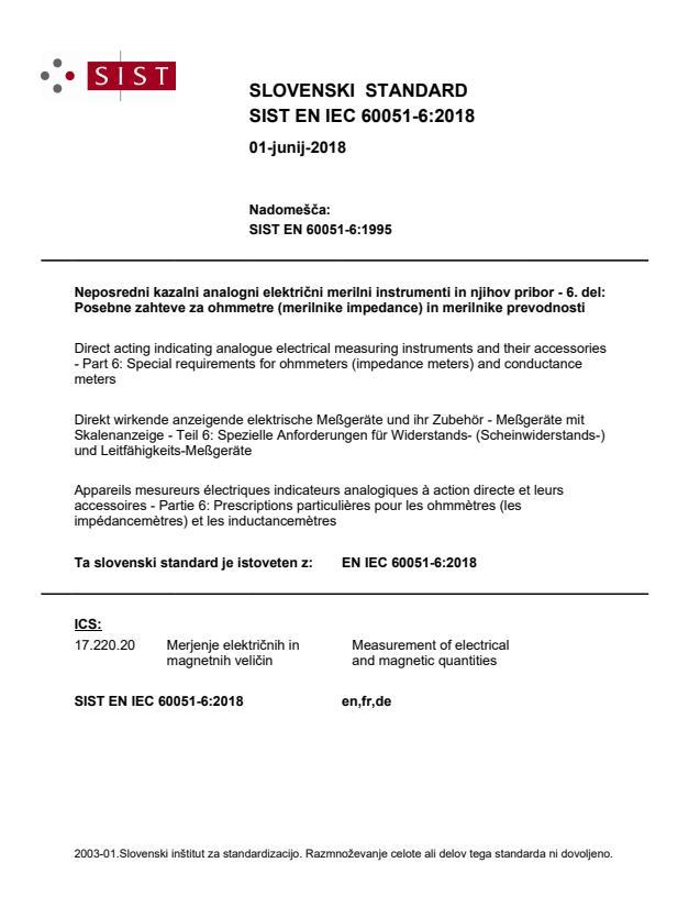 SIST EN IEC 60051-6:2018