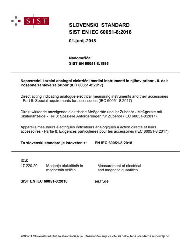 SIST EN IEC 60051-8:2018