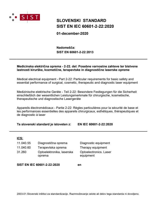 EN IEC 60601-2-22:2020