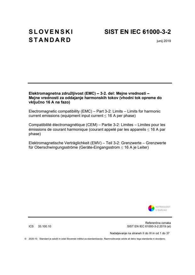 EN IEC 61000-3-2:2019 - BARVE na PDF-str26