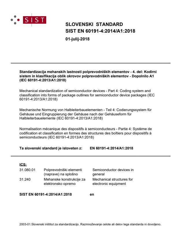 SIST EN 60191-4:2014/A1:2018