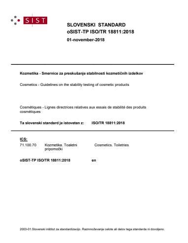 -TP ISO/TR 18811:2018 - natisnjeno