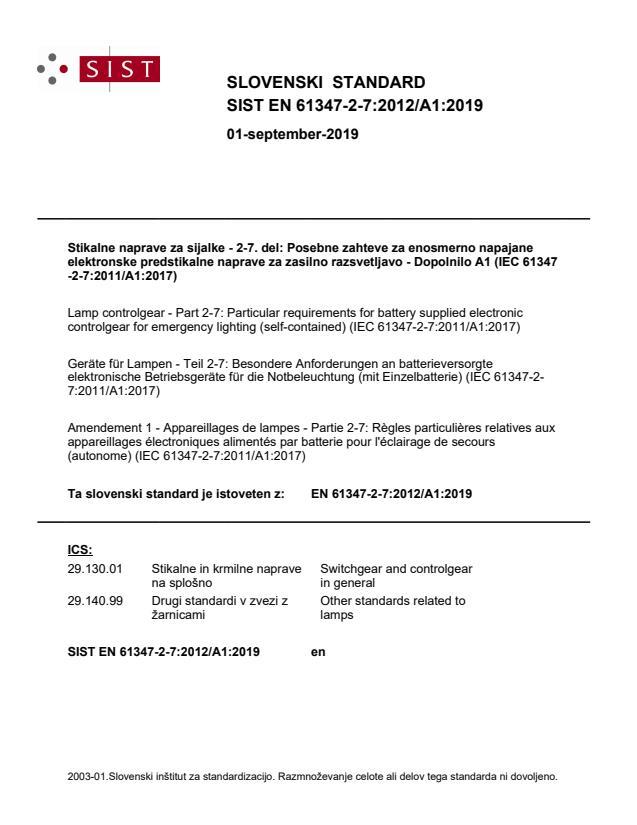 SIST EN 61347-2-7:2012/A1:2019