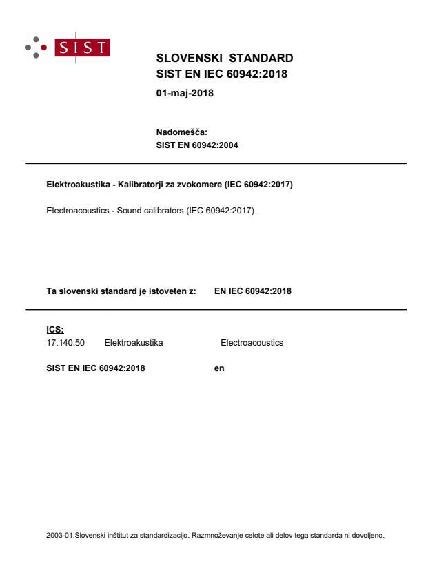 EN IEC 60942:2018