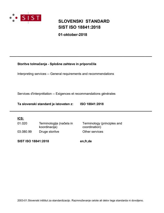 SIST ISO 18841:2018