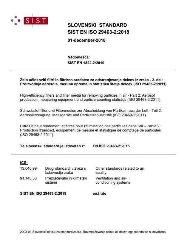 EN ISO 29463-2:2018