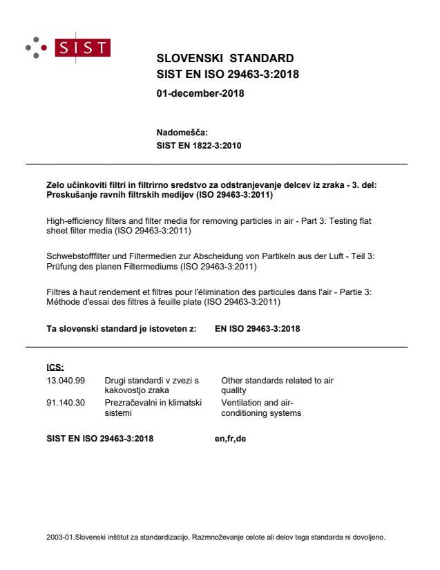 SIST EN ISO 29463-3:2018