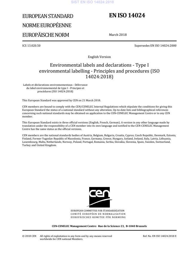 EN ISO 14024:2018