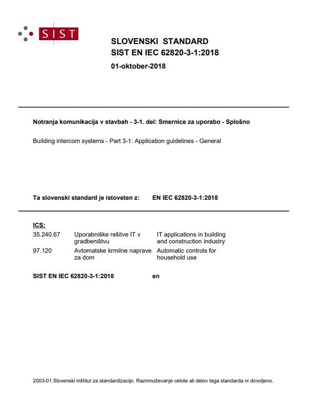 SIST EN IEC 62820-3-1:2018