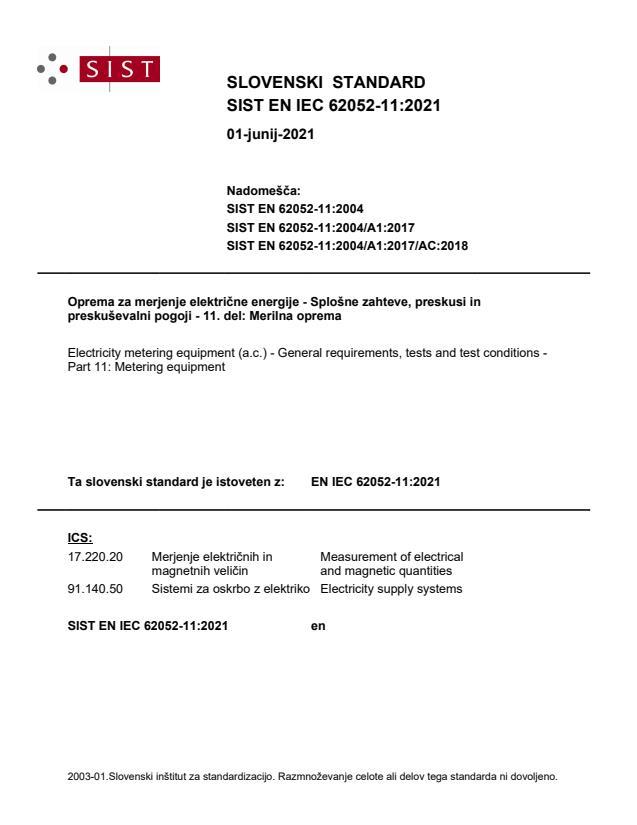 SIST EN IEC 62052-11:2021