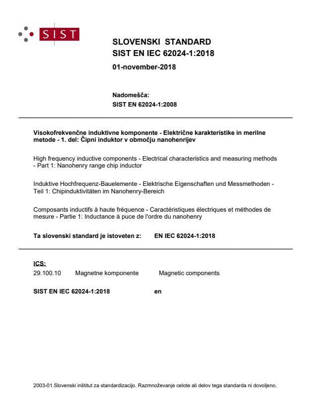EN IEC 62024-1:2018