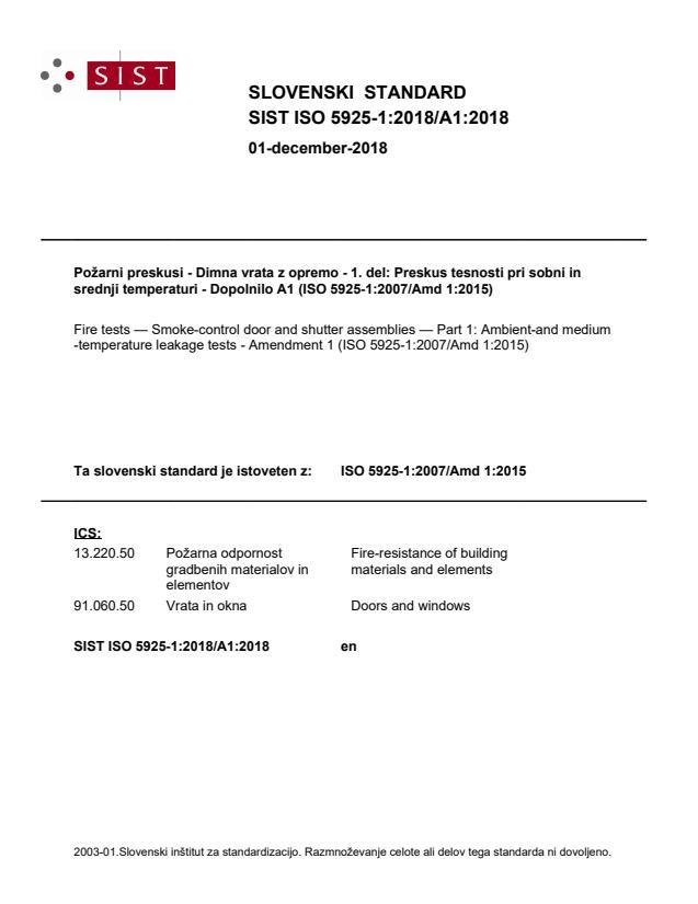 SIST ISO 5925-1:2018/A1:2018
