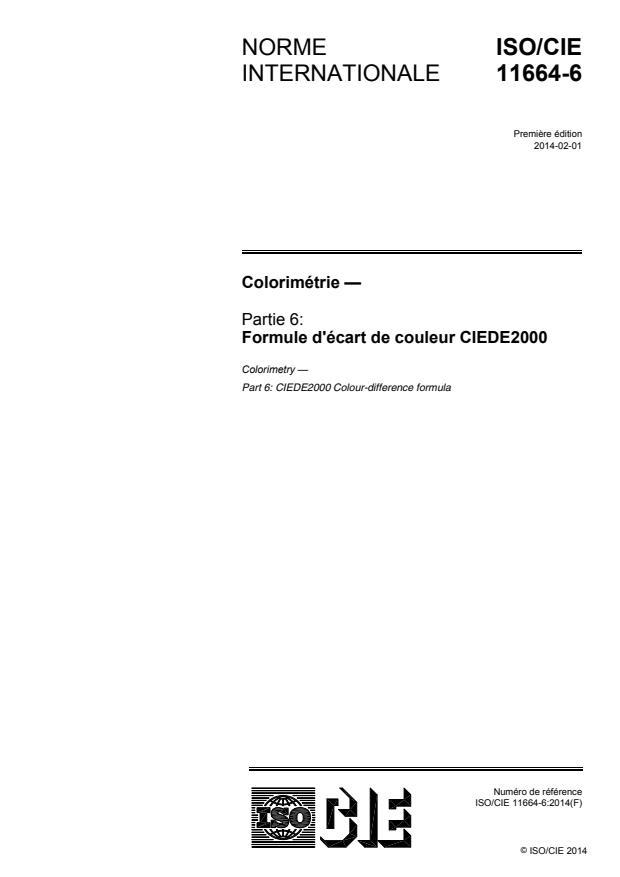 ISO/CIE 11664-6:2014 - Colorimétrie