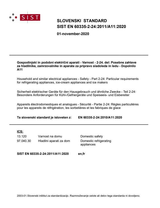 SIST EN 60335-2-24:2011/A11:2020