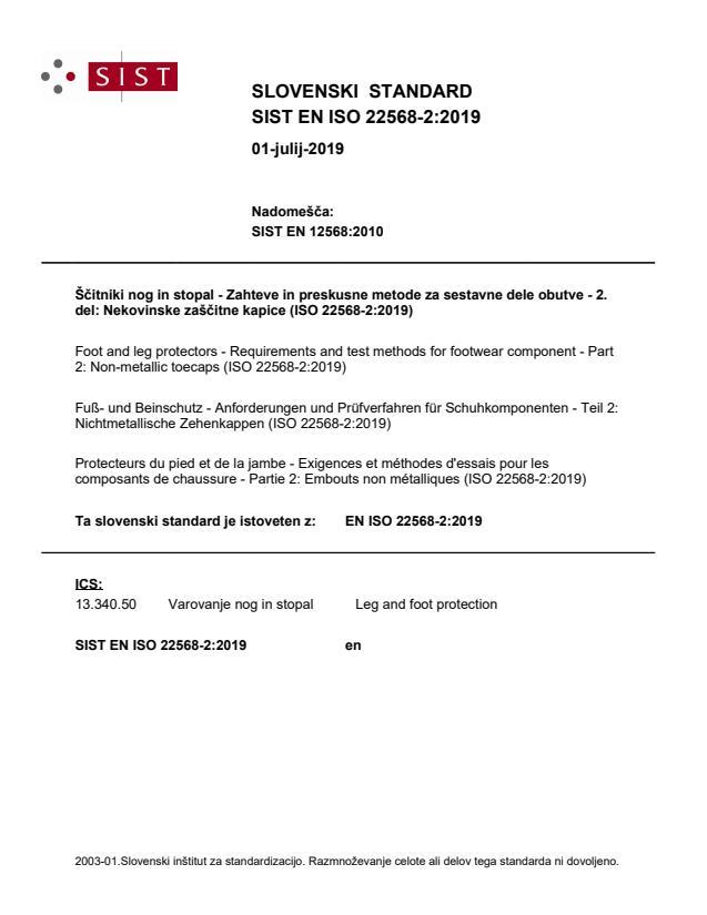 SIST EN ISO 22568-2:2019
