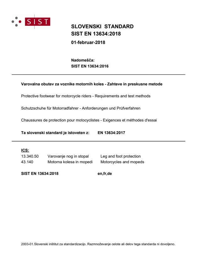 EN 13634:2018