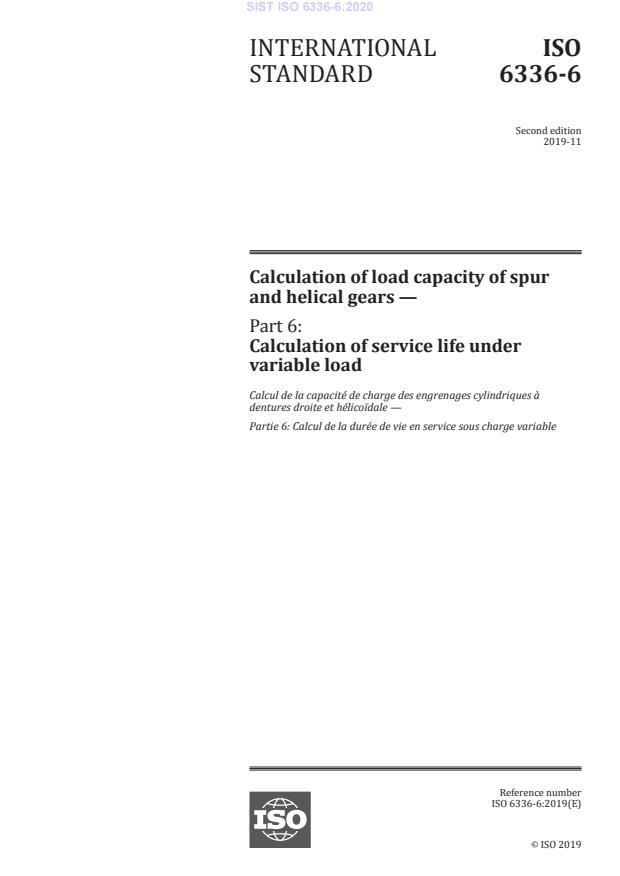 SIST ISO 6336-6:2020