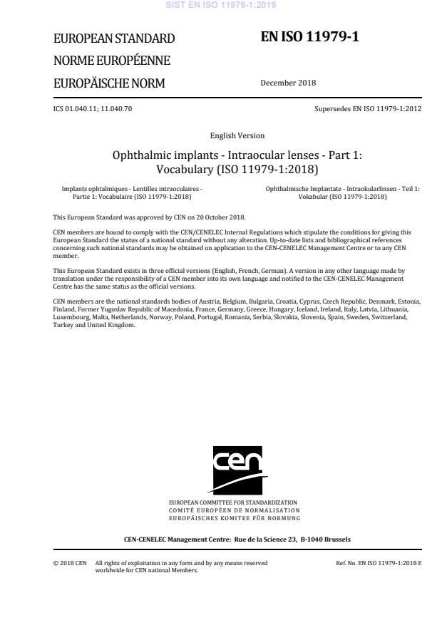 SIST EN ISO 11979-1:2019