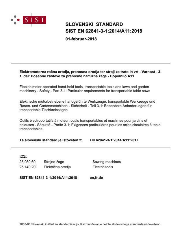 SIST EN 62841-3-1:2014/A11:2018
