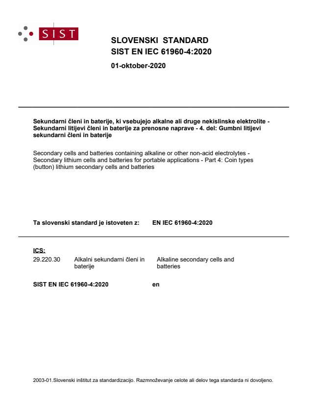 EN IEC 61960-4:2020