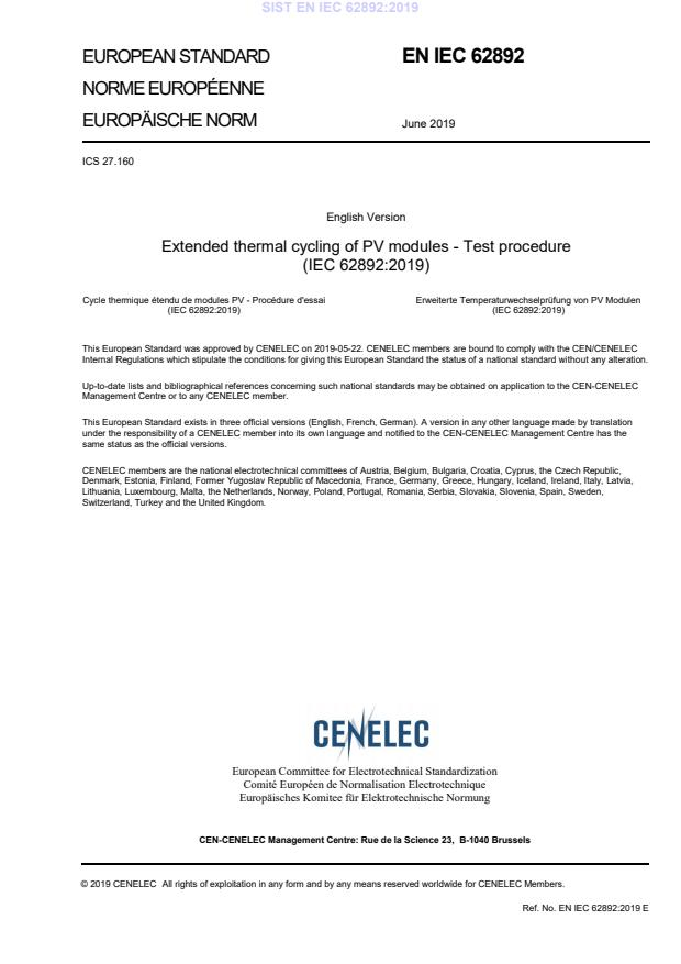 EN IEC 62892:2019