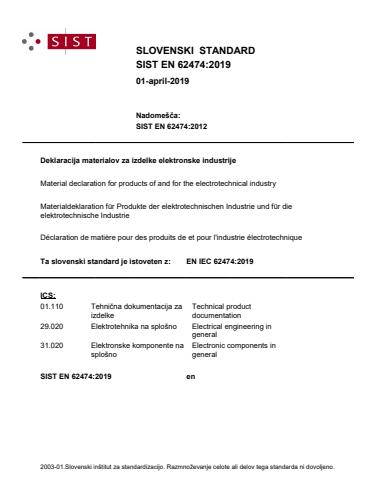 SIST EN IEC 62474:2019