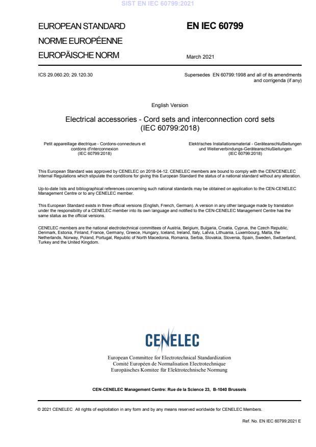 SIST EN IEC 60799:2021