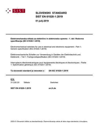 EN IEC 61020-1:2019