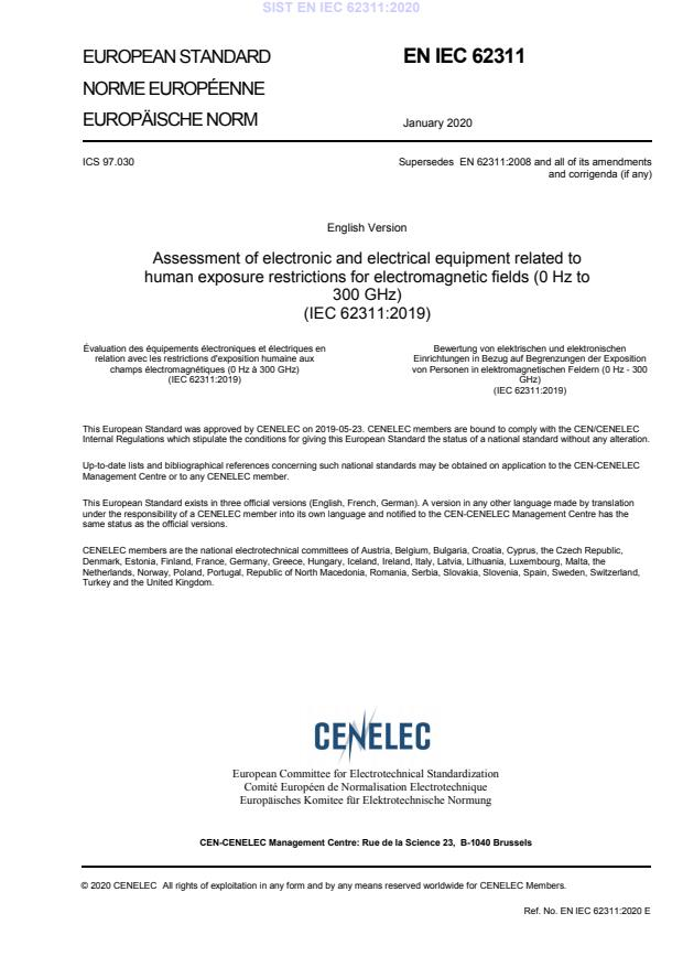 SIST EN IEC 62311:2020
