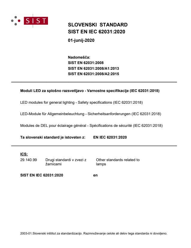 EN IEC 62031:2020