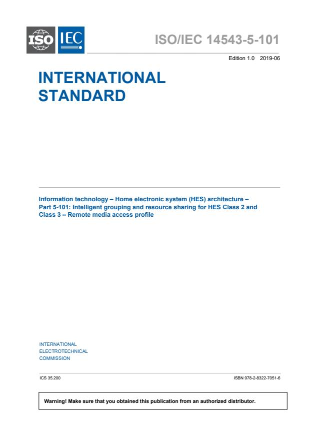 ISO/IEC 14543-5-101:2019