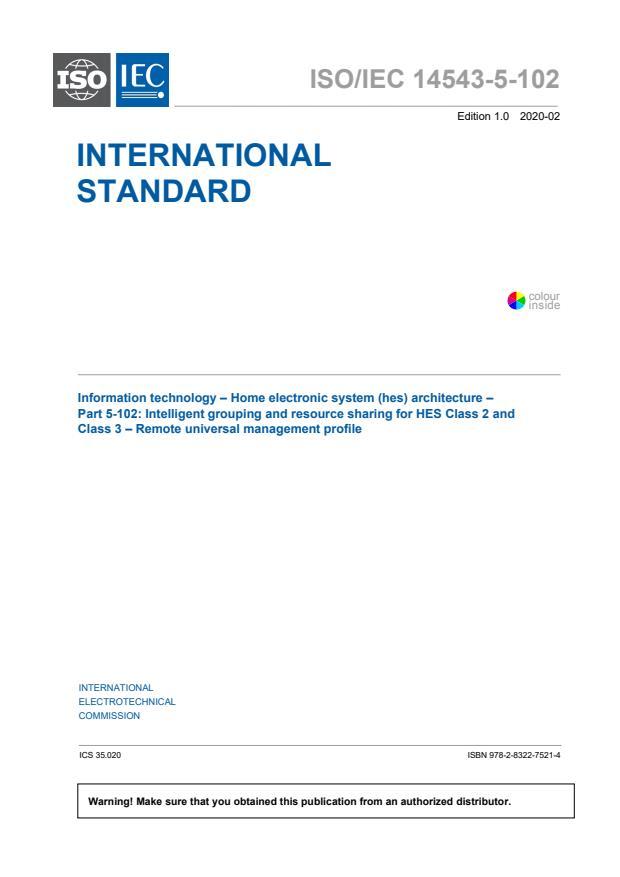 ISO/IEC 14543-5-102:2020