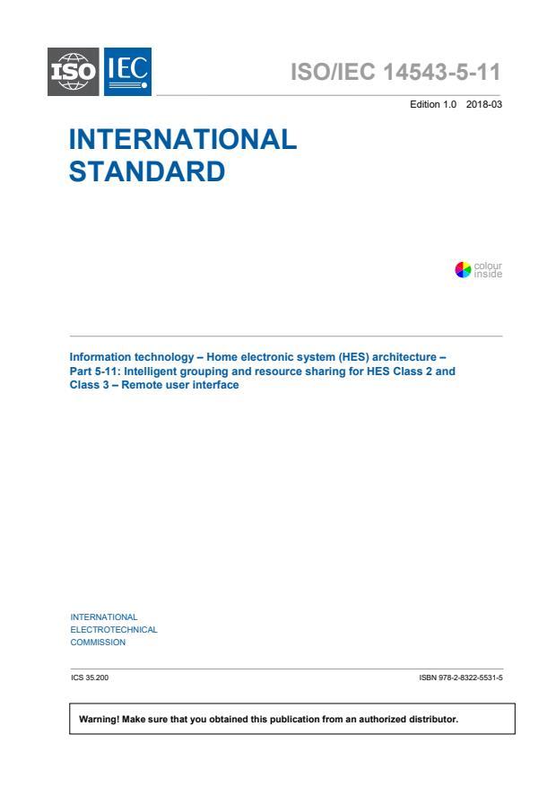 ISO/IEC 14543-5-11:2018