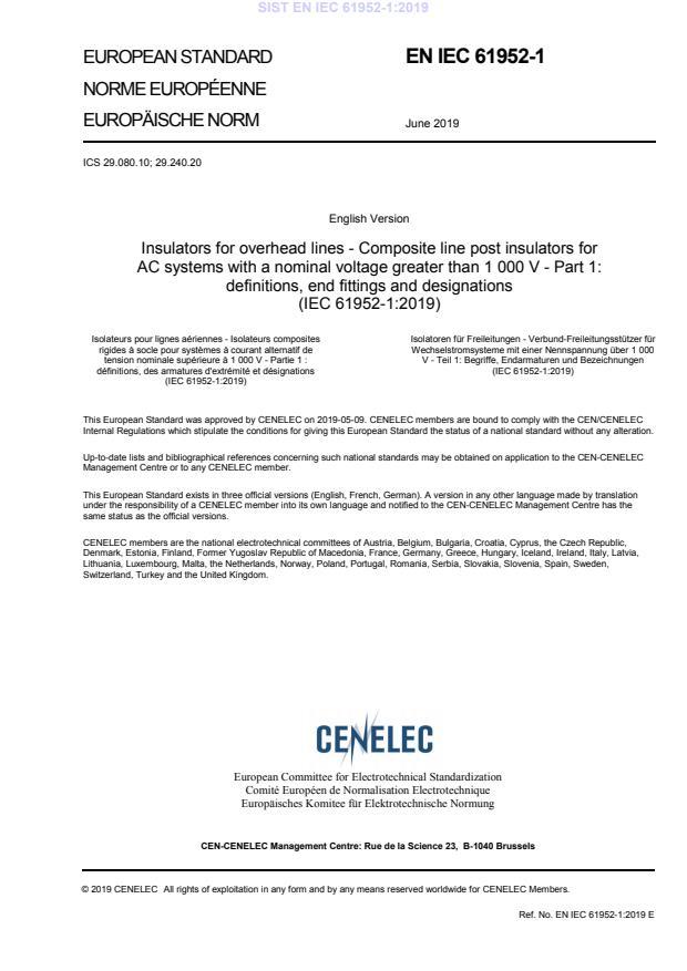 EN IEC 61952-1:2019