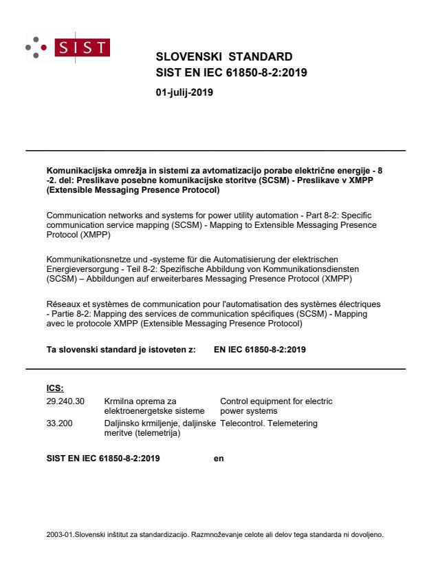 SIST EN IEC 61850-8-2:2019